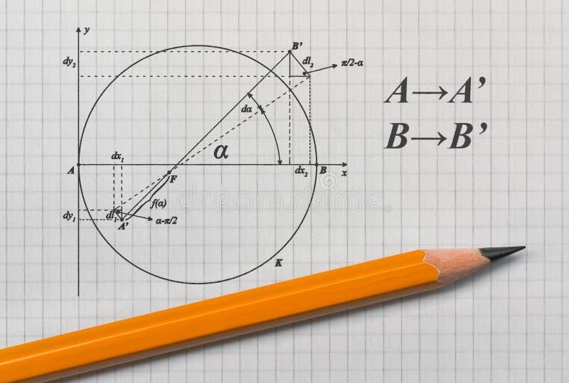 Voorbeeld van een geometrische schets stock foto
