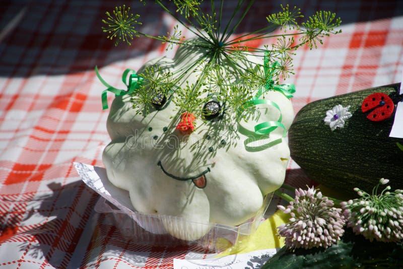 Voorbeelden van decoratieve elementen van de pompoen stock afbeeldingen