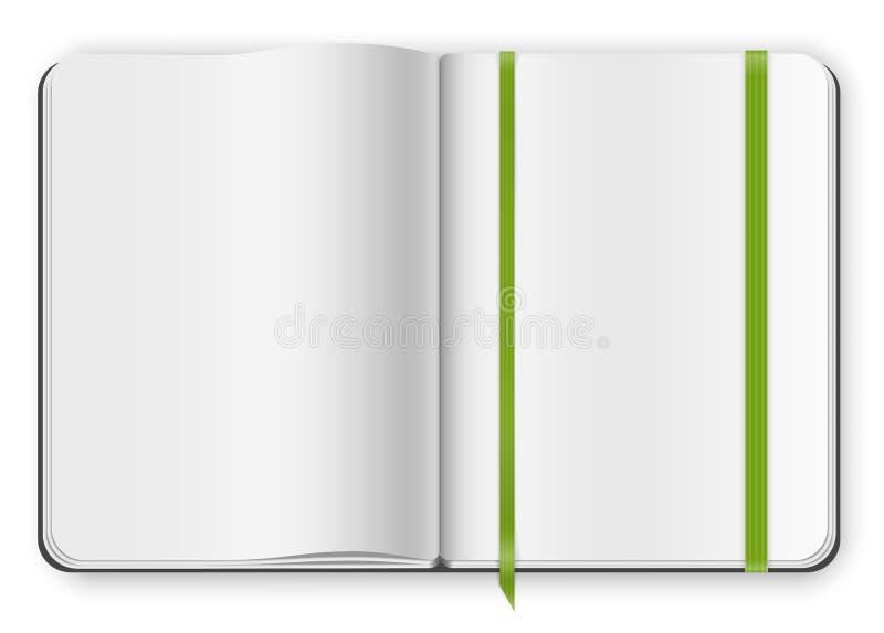 Voorbeeldenboekmalplaatje vector illustratie