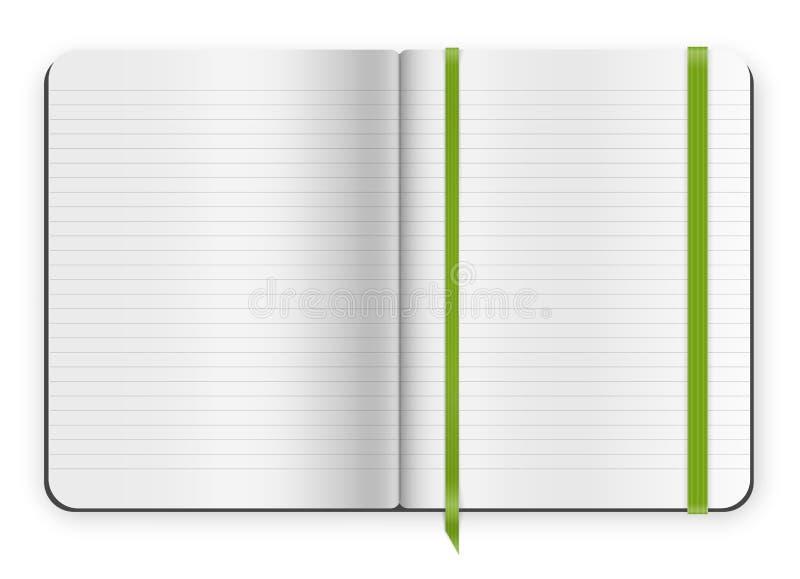 Voorbeeldenboekmalplaatje stock illustratie