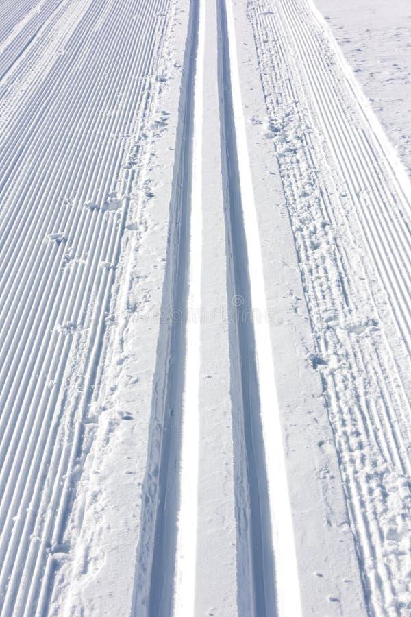 De skispoor van de winter stock fotografie