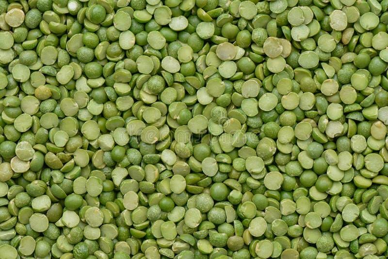 Voorbereide Groene spliterwten voor het koken royalty-vrije stock afbeelding