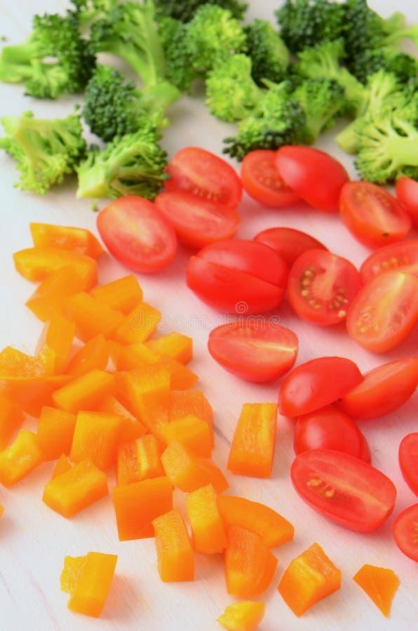 Voorbereide groenten stock afbeeldingen