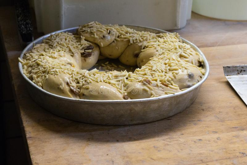 voorbereiding van gebakken goederen royalty-vrije stock foto
