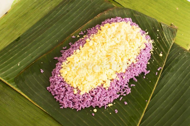 Voorbereiding van Vietnamese vegetarische rijstcake stock foto