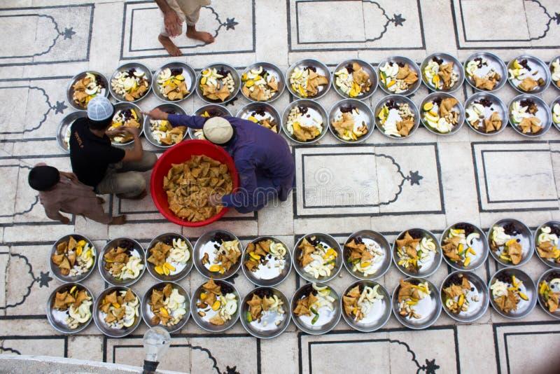 Voorbereiding van voedsel voor snel het breken royalty-vrije stock fotografie