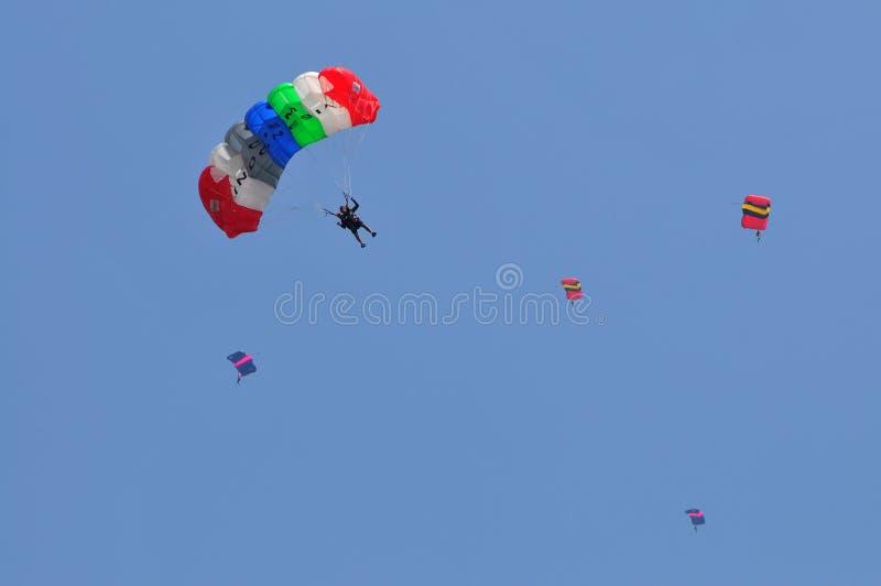 Voorbereiding van Wereld Militair het Parachuteren Kampioenschap royalty-vrije stock foto