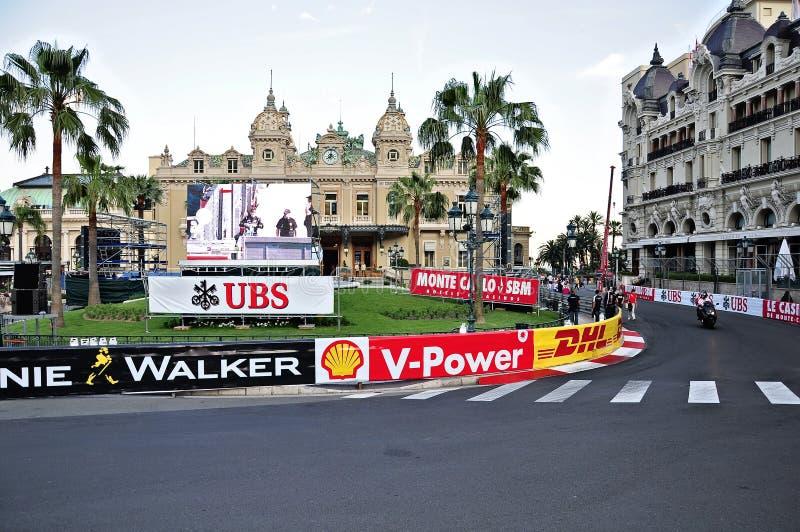 Voorbereiding voor Formule 1 de concurrentie. stock afbeelding