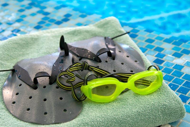 Voorbereiding voor het zwemmen royalty-vrije stock foto's