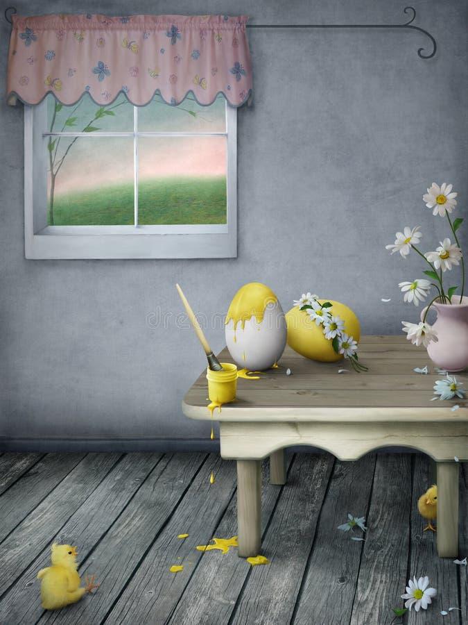 Voorbereidingen voor Pasen stock illustratie