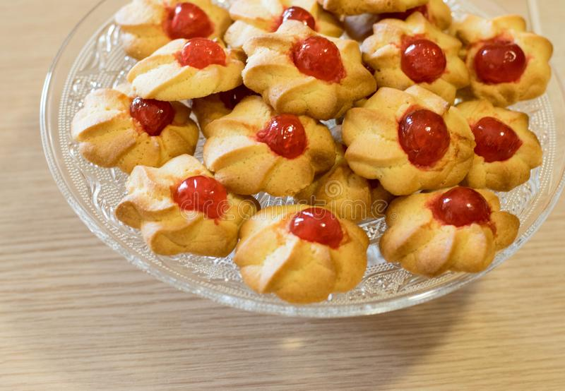 Voorbereidingsfase van Italiaanse desserts stock fotografie