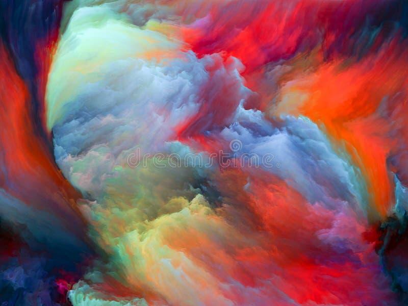 Voorbij Kleurenmotie stock illustratie