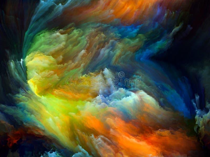 Voorbij Kleurenmotie vector illustratie