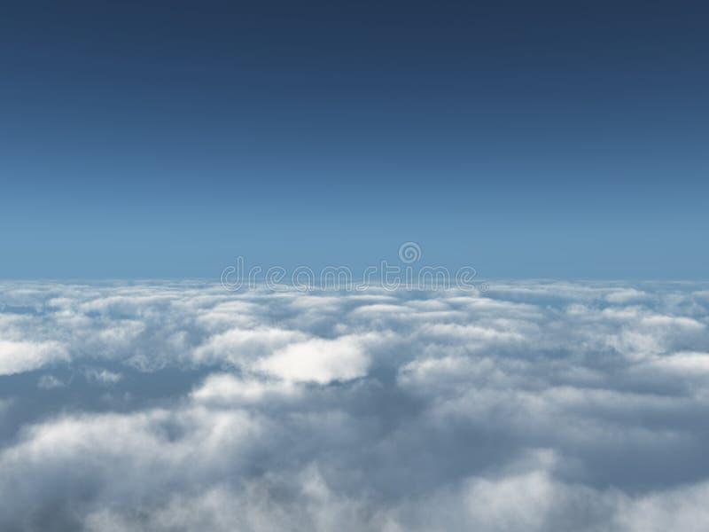 Voorbij wolken stock afbeelding