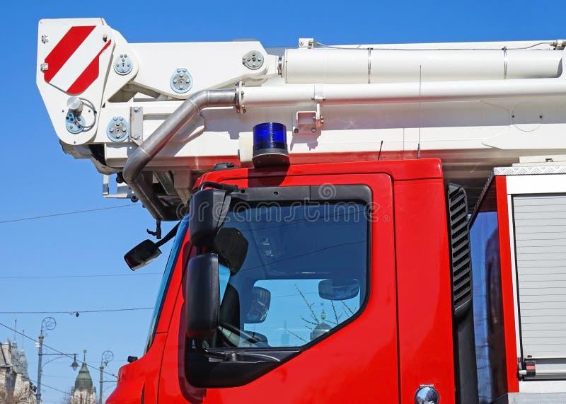 Voordeel van een brandbestrijdersvrachtwagen royalty-vrije stock foto