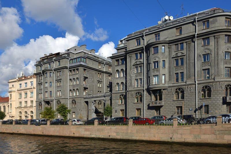 Voordelig die Huis Vege door architect Ovsyannikov wordt gebouwd binnen vroeg - 20 Th c Kryukovkanaal stock afbeeldingen