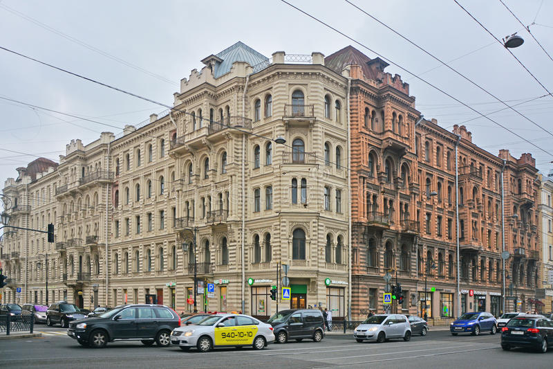 Voordelig huis van Muruzi in Heilige Petersburg, Rusland royalty-vrije stock afbeeldingen