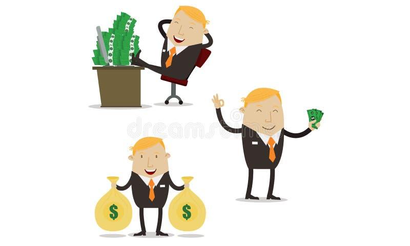 Voordelige zakenman royalty-vrije illustratie