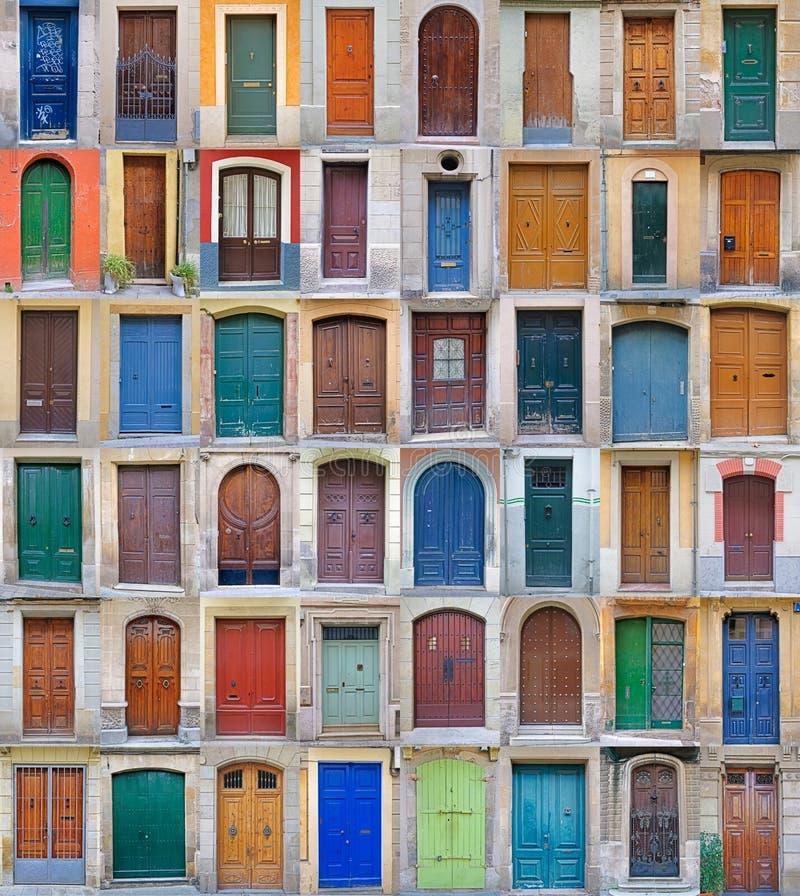 Voordeuren, Barcelona, Spanje - Volume 2 stock afbeeldingen