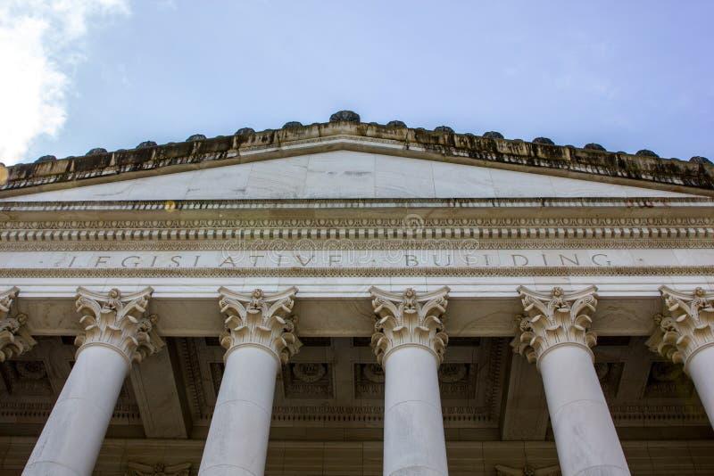 Voordiestappen in het capitolgebouw in Olympia, Washington wordt gevestigd royalty-vrije stock afbeeldingen