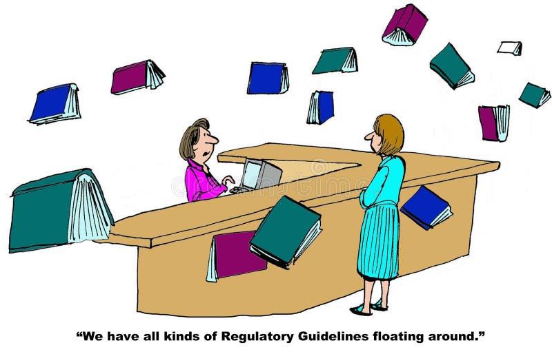 Voorgeschreven Richtlijnen vector illustratie