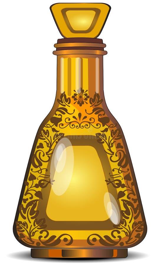Voorgestelde fles royalty-vrije illustratie