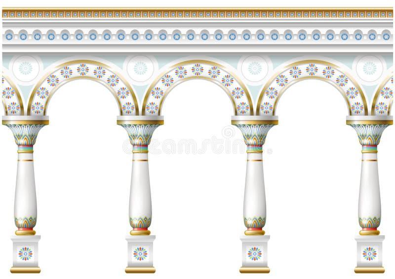 Voorgevel met ornament stock illustratie