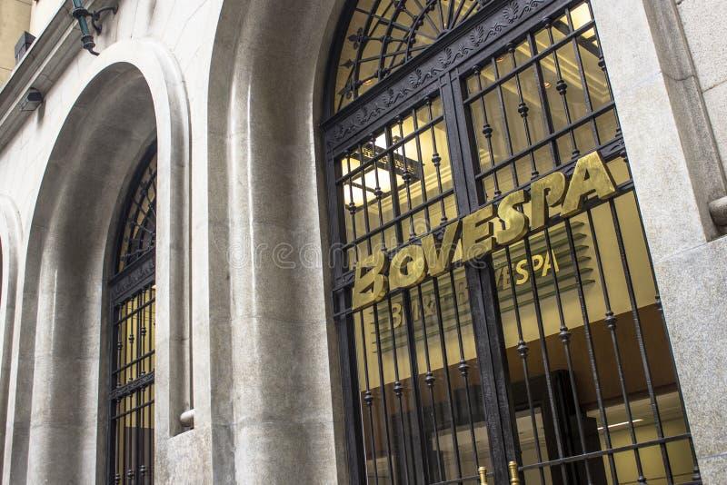 Voorgevel van Bovespa stock afbeelding