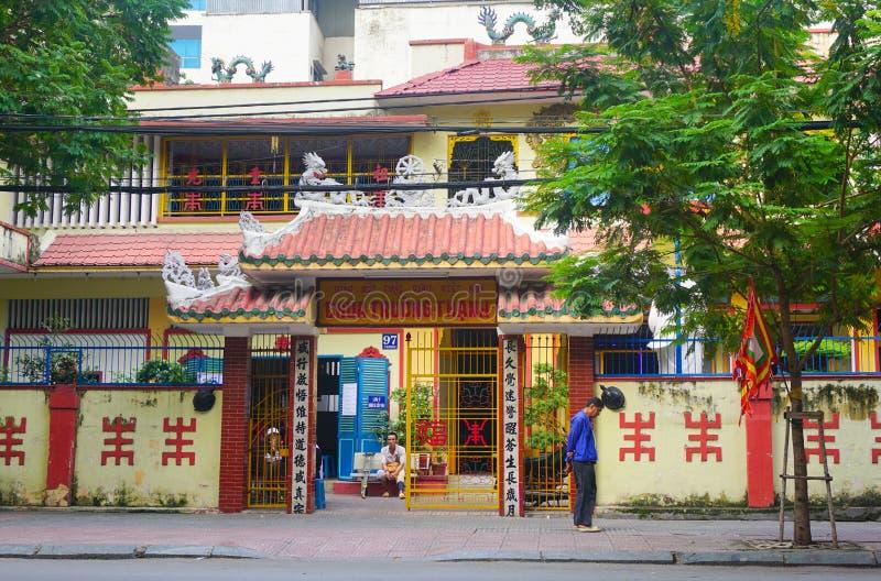 Voorgevel van Chinese pagode in Vietnam stock afbeeldingen