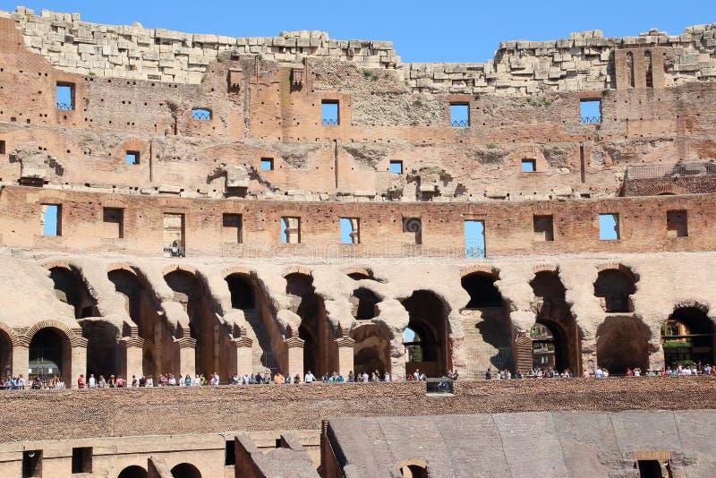 Voorgevel van Colosseum-Arena, Rome stock foto's