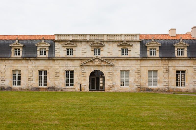 Voorgevel van Corderie Royale in Rochefort stock afbeeldingen