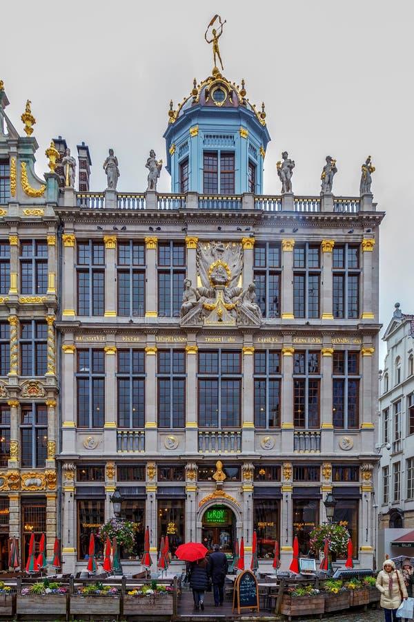 Voorgevel van de Gilden van Grand Place, Brussel, België royalty-vrije stock fotografie