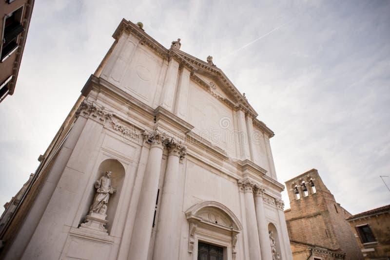 Voorgevel van de Kerk van San Toma in Venetië Italië stock fotografie