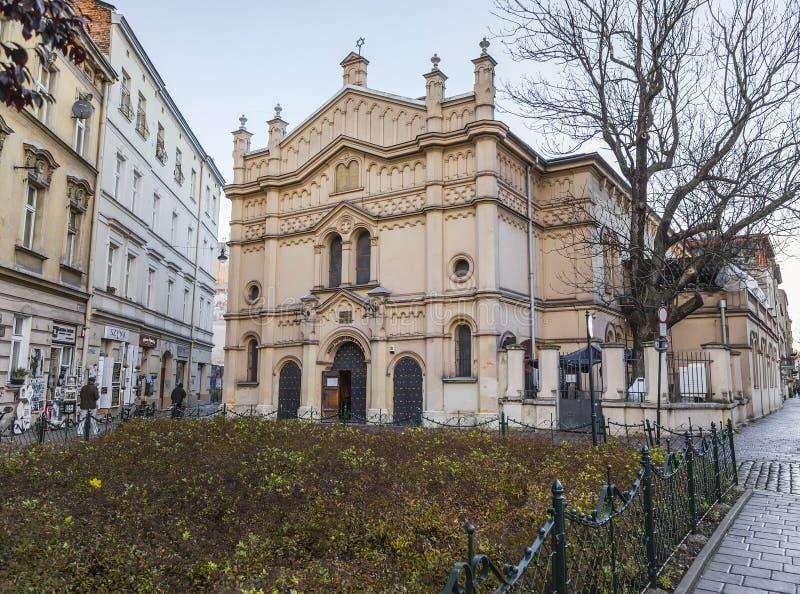 Voorgevel van de Tempel-Synagoge royalty-vrije stock fotografie