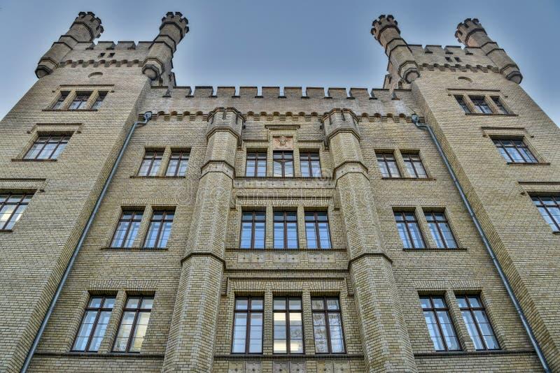 Voorgevel van een historisch gebouw in Potsdam, Duitsland royalty-vrije stock fotografie