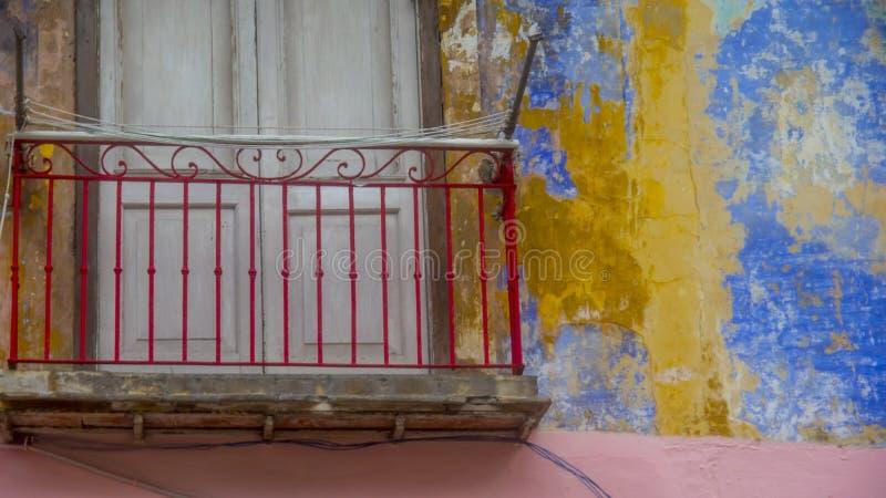 Voorgevel 7 van Havana, Cuba royalty-vrije stock foto