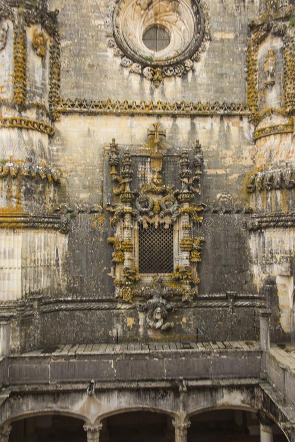Voorgevel van het Klooster van Christus met zijn beroemde ingewikkelde Manuel royalty-vrije stock afbeelding