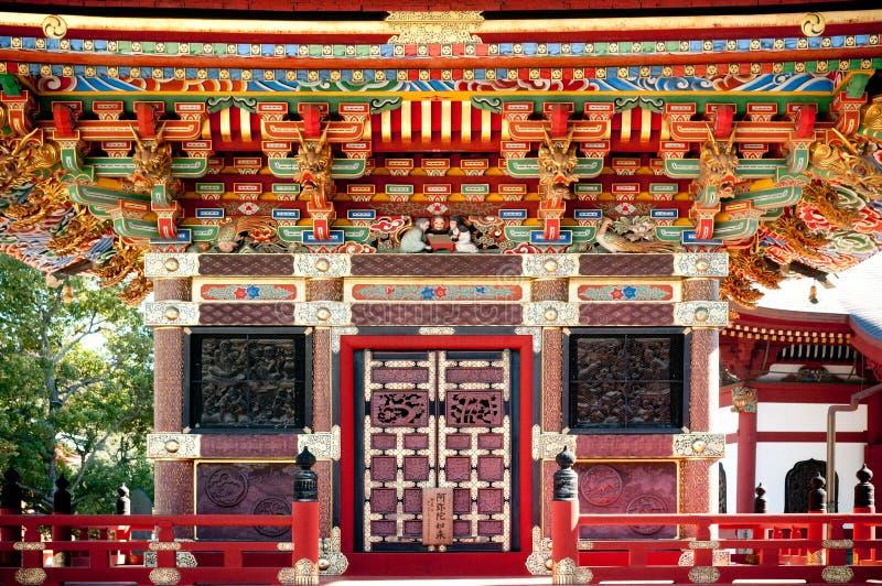 Voorgevel van Pagode van Narita San Shinsho ji tempel, Narita, Chiba, royalty-vrije stock foto's