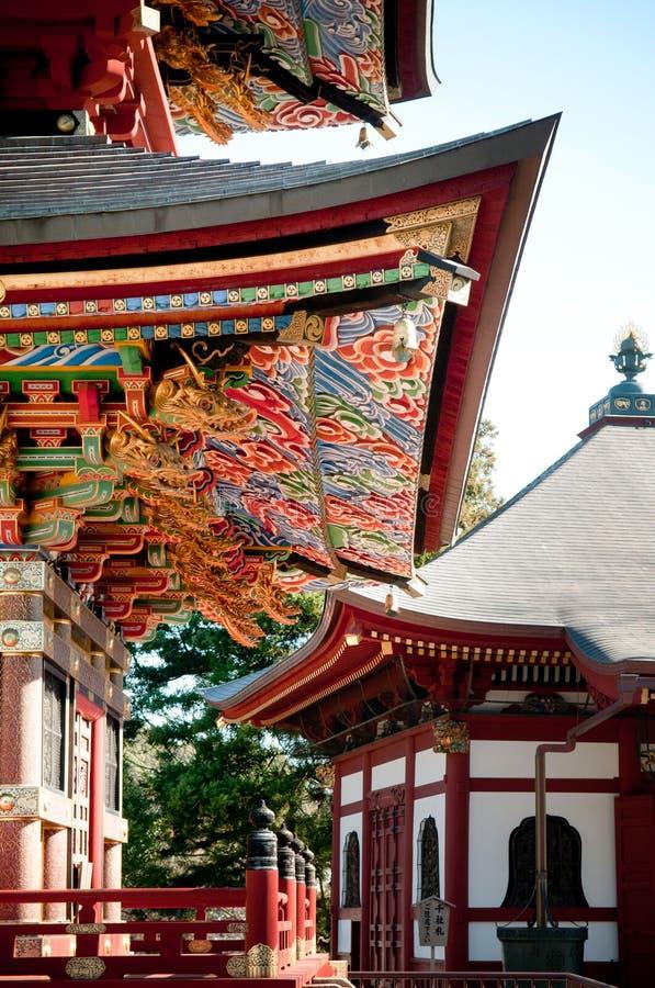 Voorgevel van Pagode van Narita San Shinsho ji tempel, Narita, Chiba, stock foto