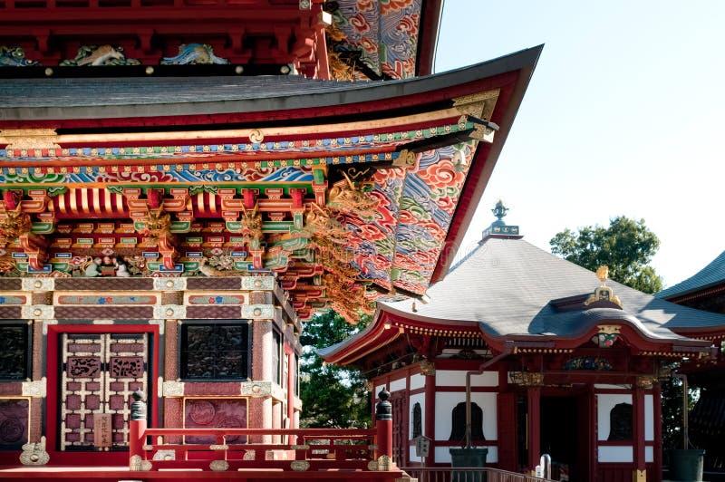 Voorgevel van Pagode van Narita San Shinsho ji tempel, Narita, Chiba, stock foto's