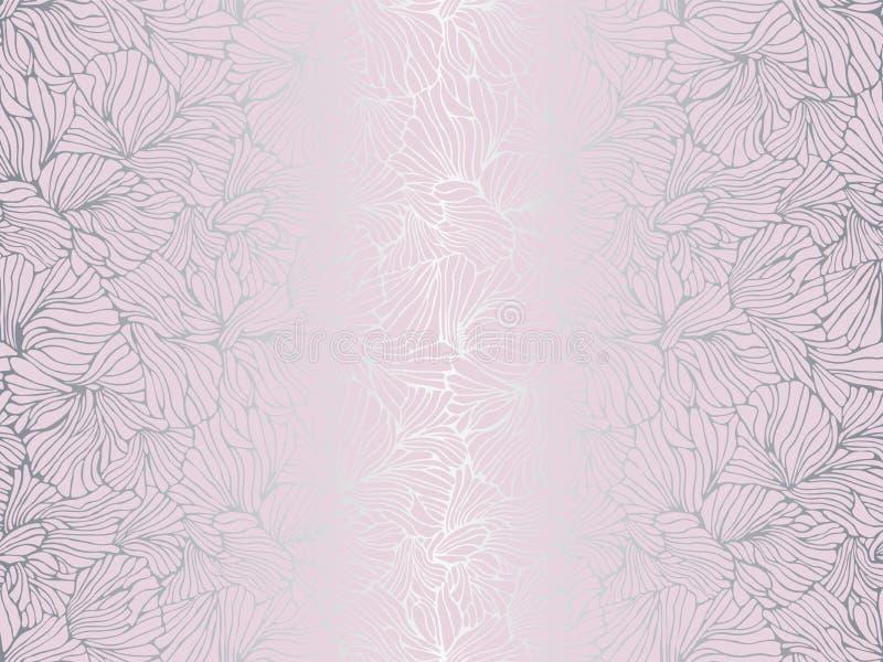 Voorgevelmeetkunde Architectuurontwerp Patroonvector, het behang van de drukproductie Moderne muur decoratief van net vlakke text royalty-vrije illustratie