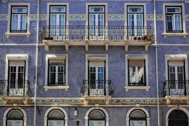 Voorgevels van Lissabon stock foto's