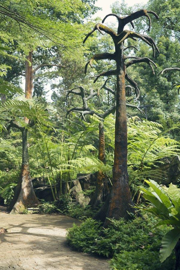 Voorhistorisch bomenlandschap royalty-vrije stock foto's