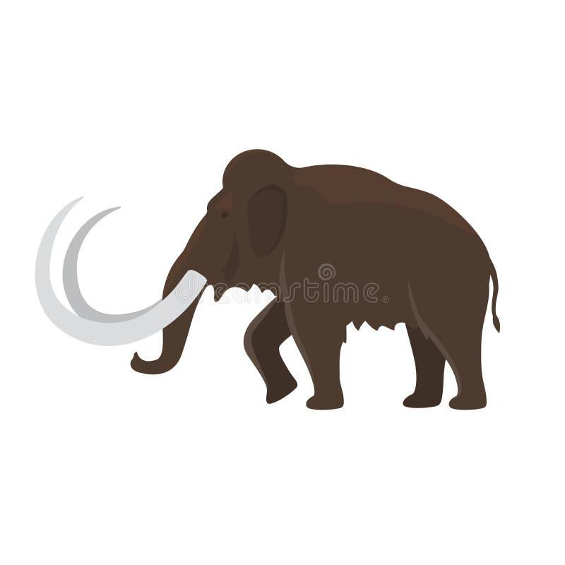 Voorhistorisch dierlijk mammoetpictogram stock illustratie