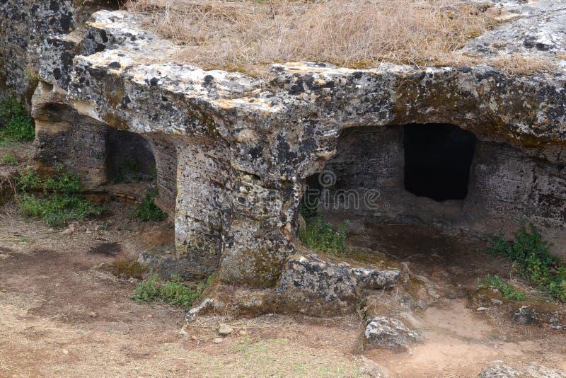 Voorhistorisch necropool royalty-vrije stock afbeelding