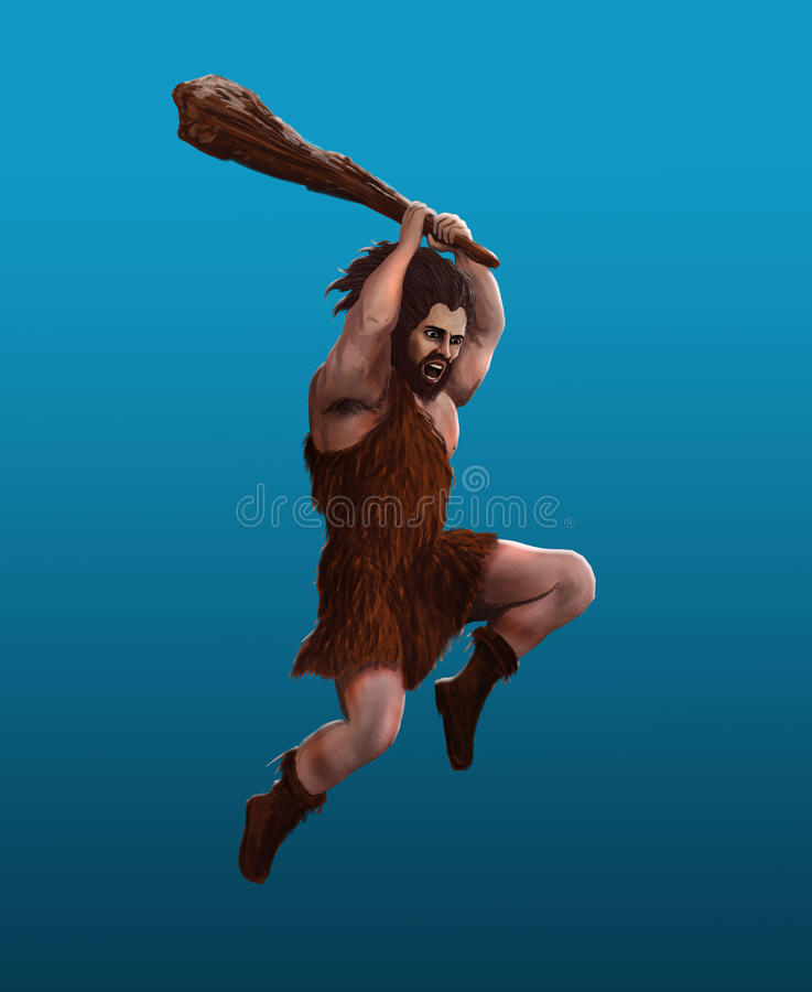 Voorhistorische mens stock illustratie