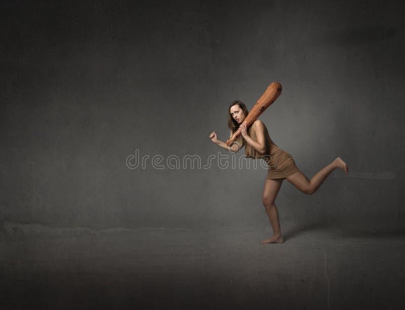 voorhistorische vrouw stock foto's