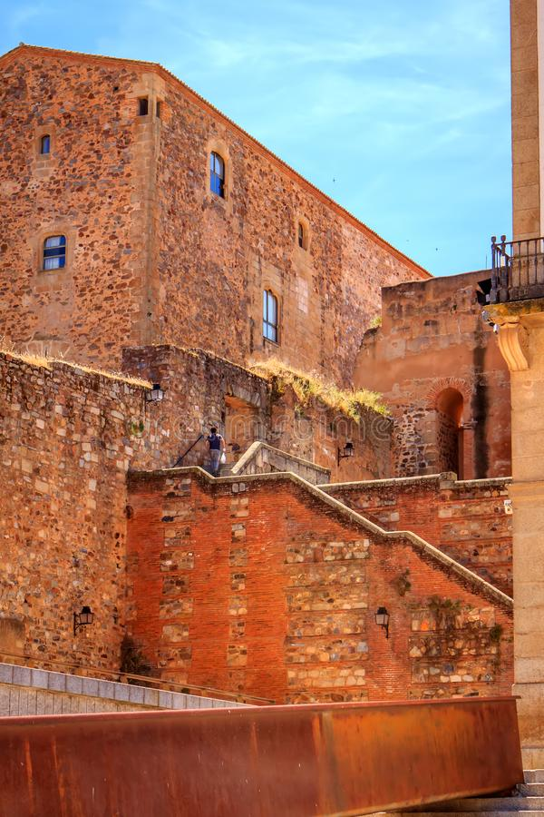 Historic center of Caceres, Extremadura, Spain stock photography