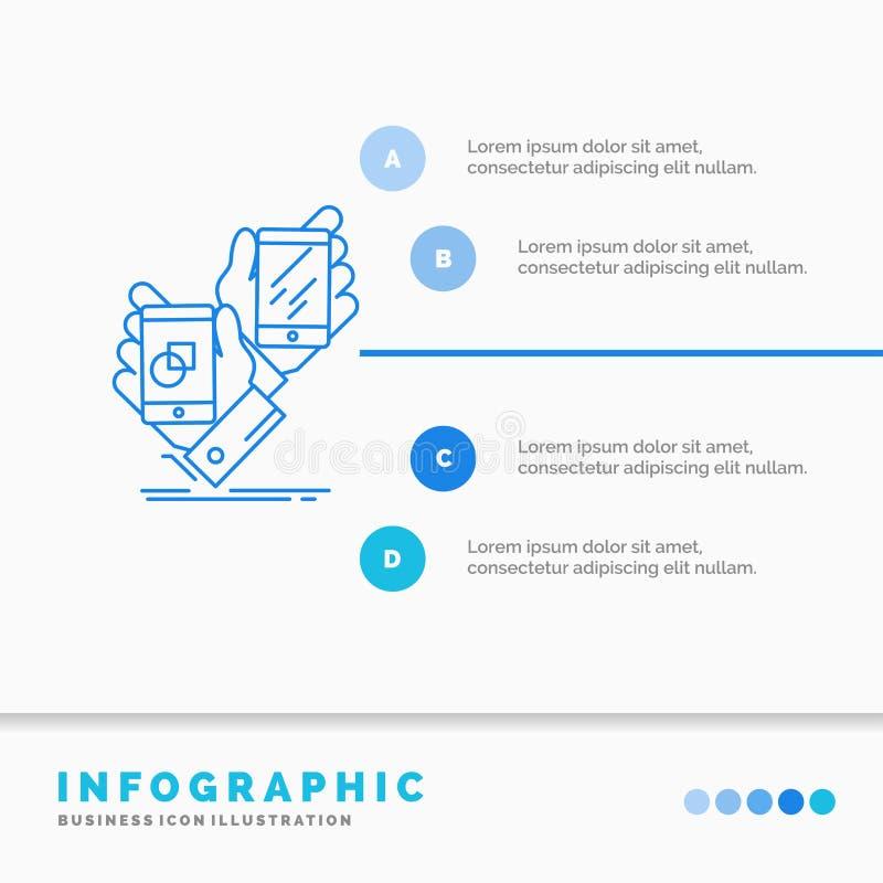 Voorlichting, merk, pakket, plaatsing, het Malplaatje van productinfographics voor Website en Presentatie Infographic stijl van h royalty-vrije illustratie