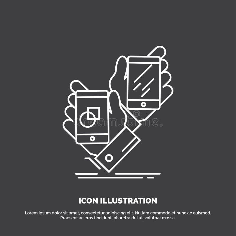 Voorlichting, merk, pakket, plaatsing, productpictogram Lijn vectorsymbool voor UI en UX, website of mobiele toepassing vector illustratie